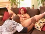 Fat black girl with red wig gets fucked hard
