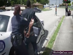 Horny Female Cops Share Black Dick