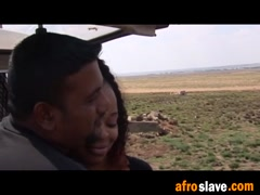 African sex slave gives perfect blowjob