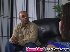 Busty MILF enjoys being nailed by a fat black dick