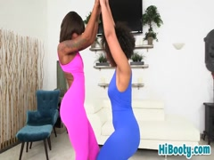 Long white dong for black babes Ava and Peyton