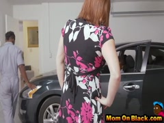 Maggie gets two large black dicks