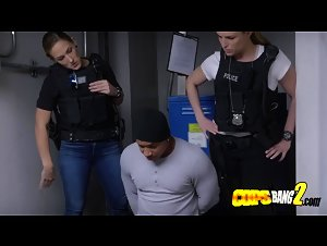 Latino criminal takes turns to bang horny milf cops coochies