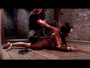 Stunning ebony fingered and toyed bdsm