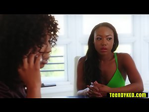 Ebony teen paid with a chocolate pussy lawyer services