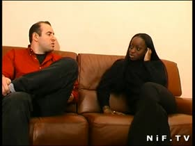 French black girl sodomized and cum covered
