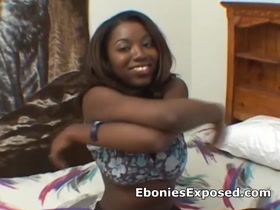 Amateur bigtit ebony fingered