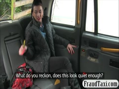 Slutty amateur pounded by fraud driver in the backseat