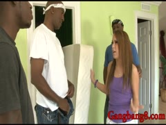 Tight teen Haley Sweet pounded by many big black cocks