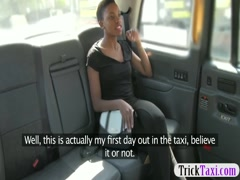New nasty cab driver gives his ebony passenger a facial