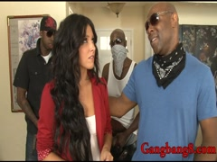 Slutty babe Danica Dillon all holes pounded by black men
