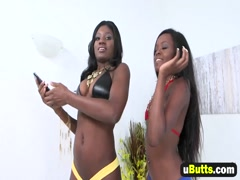 Fit Black Girls Kay Love And Destinee Jackson Having Steamy Threesome With White Dude