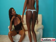 Extremely hot ebony babes enjoy toying their wet pussies