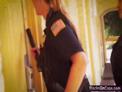 Busty Female Cops Take Turns On BBC