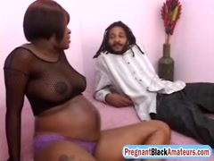 Pregnant ebony bitch drilled deep by BBC