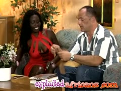 Mature Horny Perv Banging A Young Chocolate Hottie