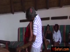 African party sluts sucking fucking big black cock
