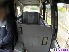 Huge tits ghetto passenger babe gets railed in the taxi