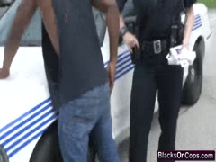 Female cops sucking fuck big black dong threesome