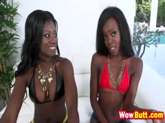 Kay and Destinee threesome big schlong interracial