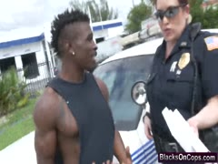 Black stud truck doggy style busty cops threesome