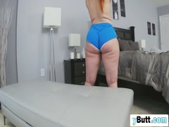 Huge booty white chick reverse cowgirl black boner