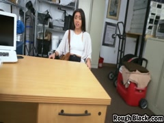 Kharlie Gets Roughly Filled By Huge Black Rod