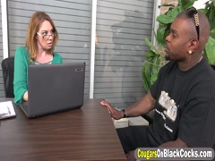Milf Kiki Daire Takes Two Black Schlongs In Office