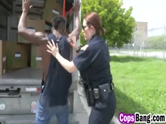 Black thug bangs two horny female cops