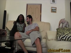 Doggy style pounding for amateur African hottie