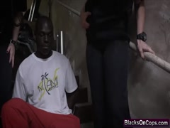Black stud arrested and forced to bang slutty cops