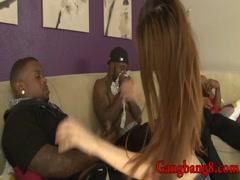 Cutie Jenna Justine all holes banged by big black dicks