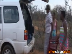Hardcore interracial group sex with hot African sluts