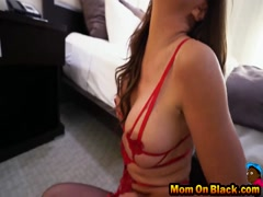 Black dicks for slutty brunette cougar