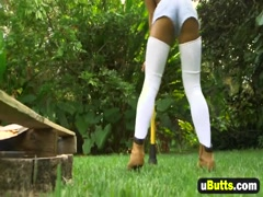 Ebony Babe Jean Slayer Riding Long Black Schlong