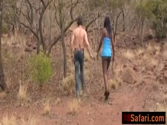 African slut is getting fucked hard