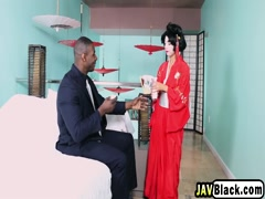 Asian Geisha Vivianna Gives Footjob And Rides