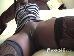 African slut with big ass fucked hard by a white stud in POV