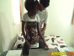 Ebony Shanice can't resist white dick