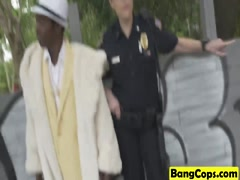 Pimp Bangs Cops Maggie Green and Joslyn