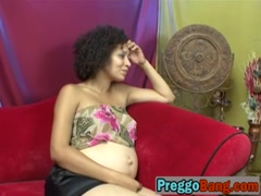 Pregnant black lesbos using dildo to please cunts