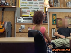 Busty ghetto nailed by nasty pawn dude at the pawnshop