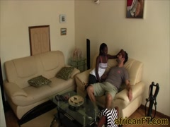 Superb amateur interracial sex video