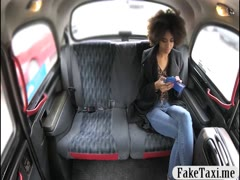 Sexy ebony babe railed by pervert driver in the backseat