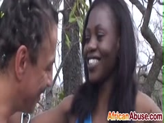 Interracial fucking with African slut