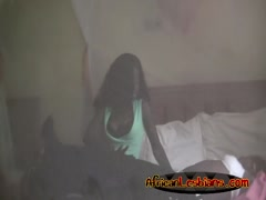 African Lesbians Megan And Veronica Enjoy Scissoring