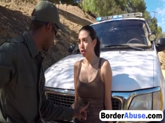 Interracial fuck with border agent