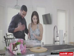 Brunette goddess Valentina Nappi fucked by a black guy