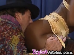 Hairy pussy stretched with big cock
