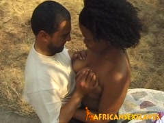 African slave forced to blow schlong outdoors